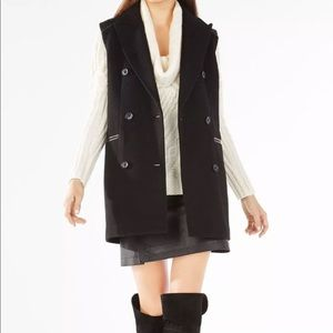 BCBG Roxy Wool Double Breasted Vest